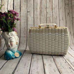 Handbags - Princess Charming Atlas Wicker & Lucite Vtg Purse